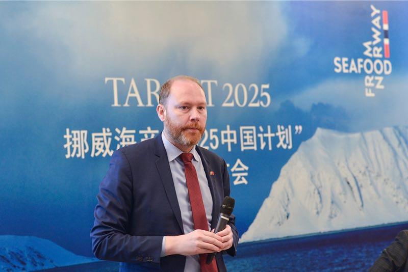 """bjrgo)先生表示:""""挪威以优质的三文鱼享誉海内外,并出产全球55%的养殖"""